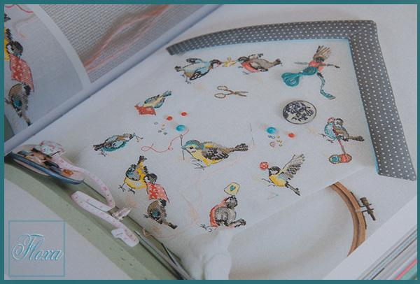 вышивка птички, вышивка птичий дом, вышивка французский дизайн