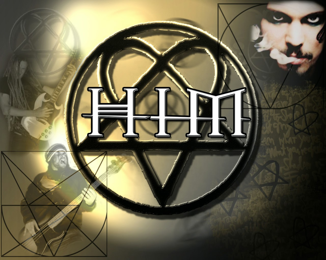 "HIM was formed in 1991 by vocalist Ville Valo, guitarist Mikko ""Linde"" Lindström, and bassist Mikko ""Migé"" Paananen, HIM's current lineup consists of Valo, Linde, Migé, and Janne ""Emerson Burton"" Puurtinen on keyboards. http://www.jinglejanglejungle.net/2015/02/eu2.html #HIM"