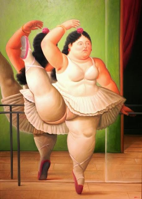 Bailarina en la barra