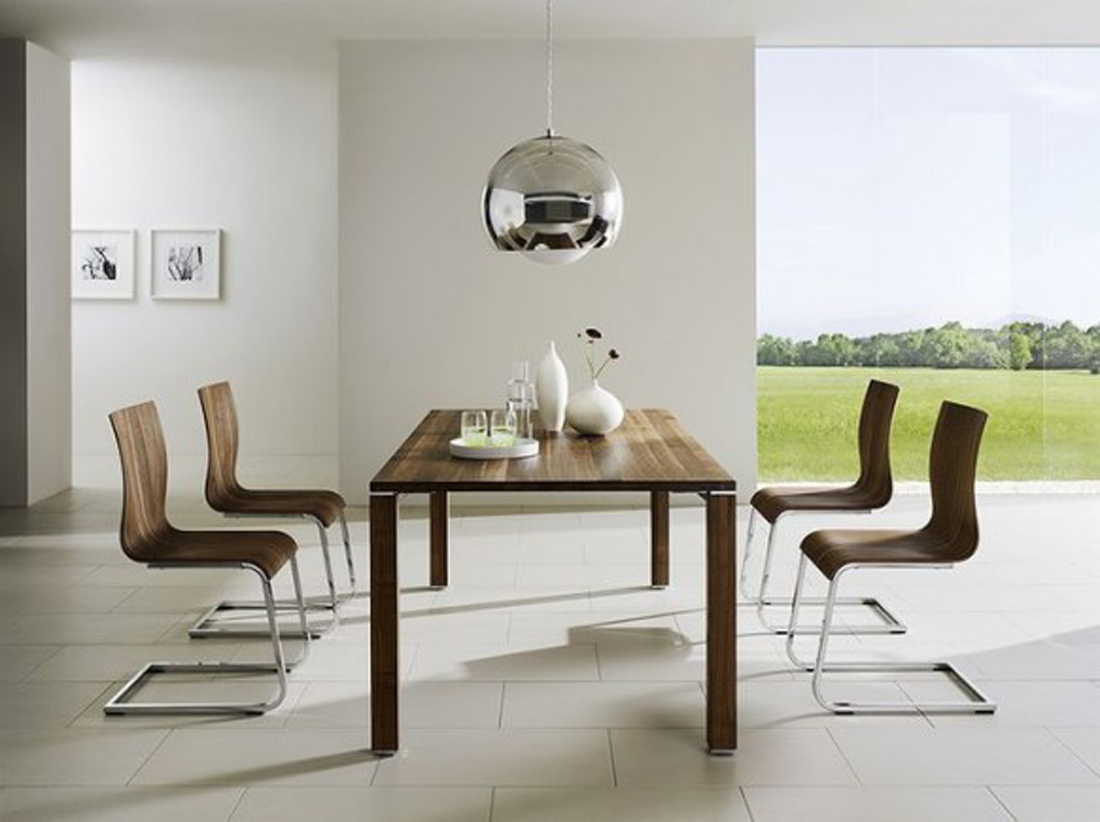 Modern minimalist dining room design home design picture for Modern wallpaper designs for dining room