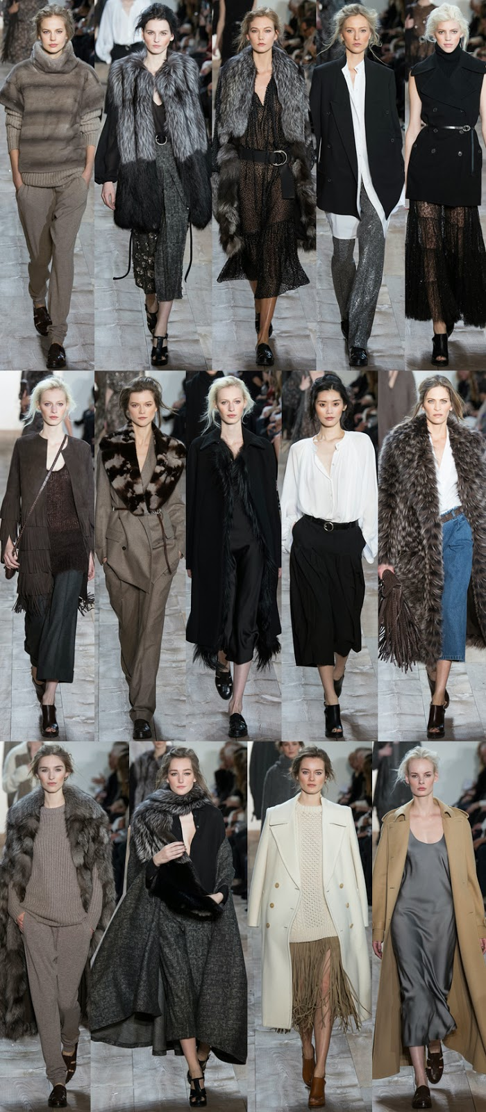 Michael Kors fall winter 2014 runway collection, NYFW, fashion week, boho chic