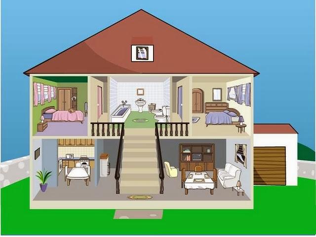 Maestra de Primaria Planos de viviendas Dependencias de la casa