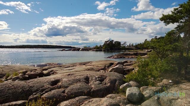 Rocky beach in Espoo