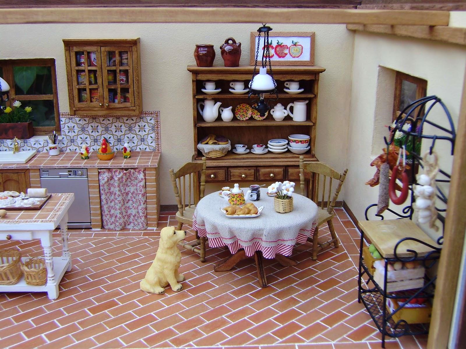 Sin parar de trastear escenas en miniatura - Cocinas de obra rusticas ...