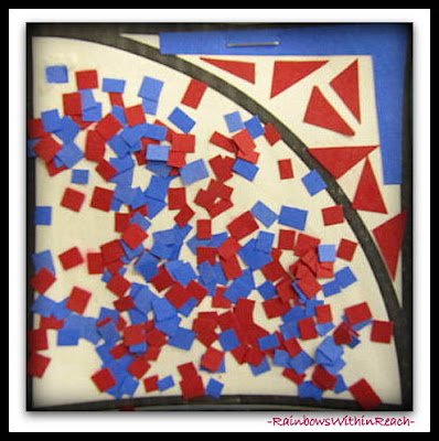 "photo of: Patriotic Quilt Squares in Response to ""Red, White and Blue"" by Debbie Clement"