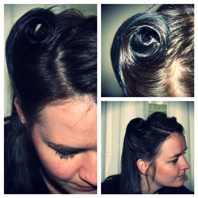 victory rolls hair tutorial
