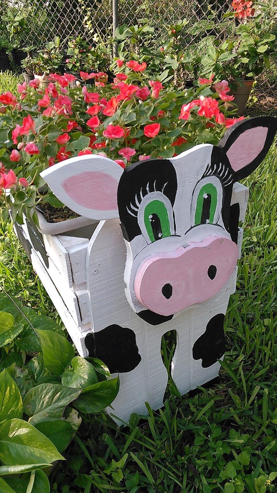 Por amor a cristo manualidades y mas vaquitas coquetas for Madera para jardin