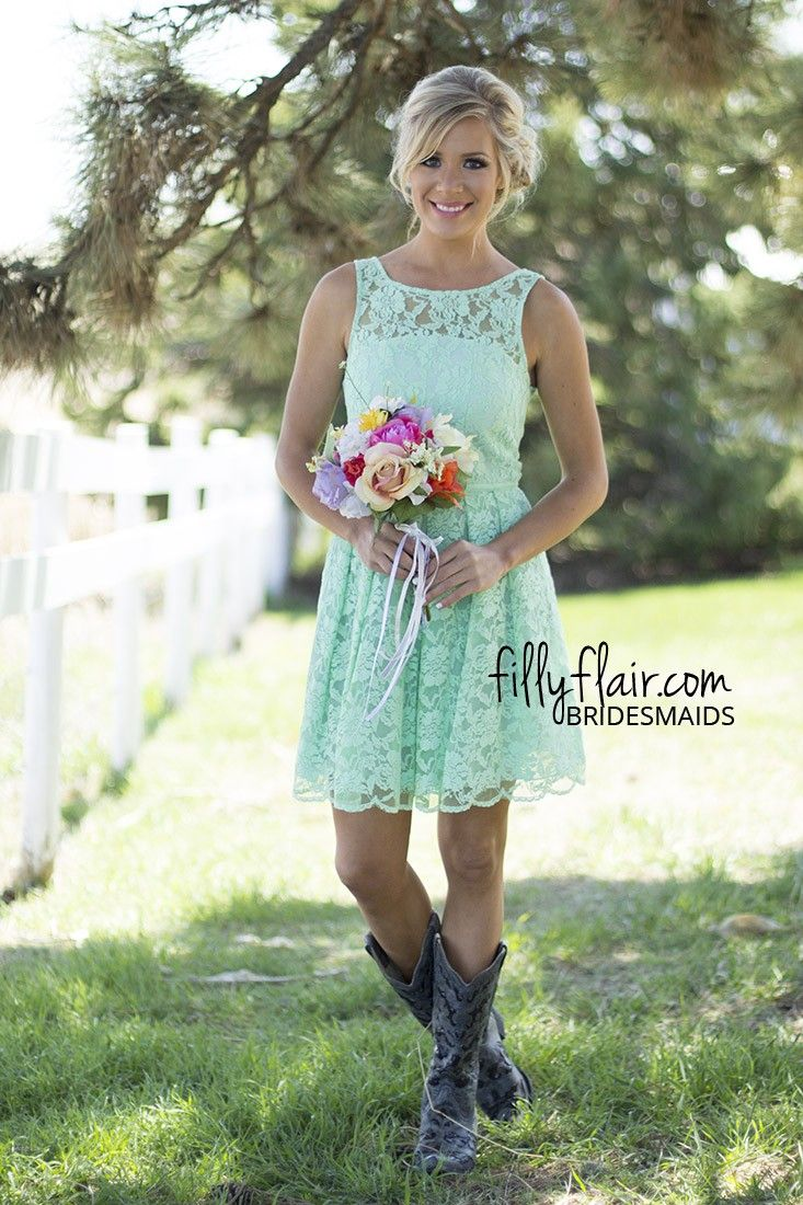 White Short Wedding Dresses With Cowboy Boots | Fashion Ideas