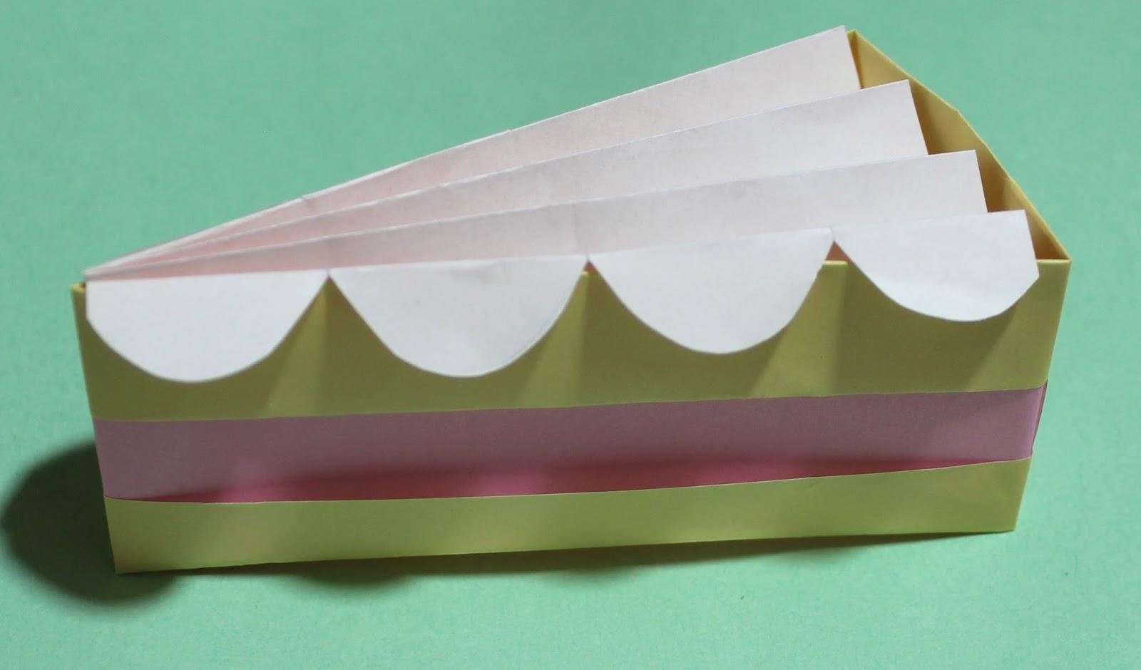 Origami Slice Of Cake Instructions