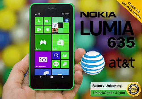 Factory Unlock Code for Lumia 635 from At&T