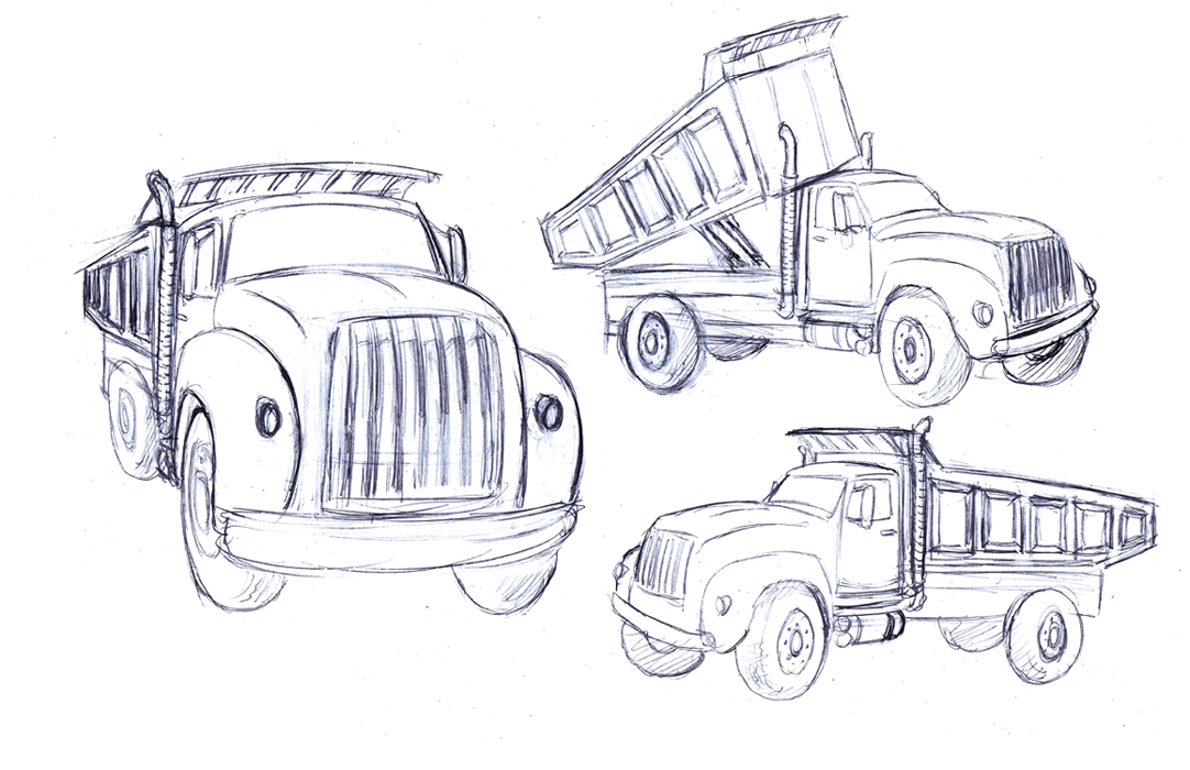 How To Draw Tip Truck