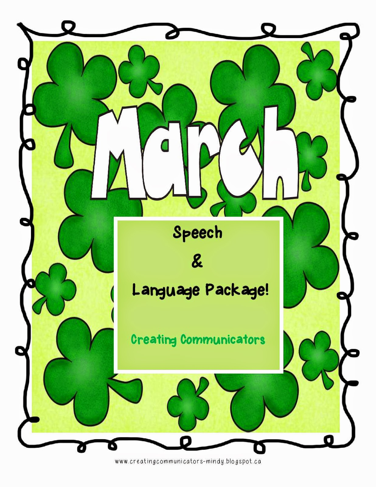 https://www.teacherspayteachers.com/Product/March-Speech-and-Language-Package-1144649