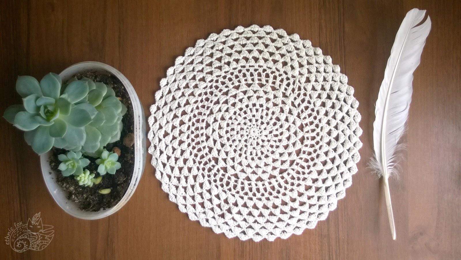 crochet doily easy pattern