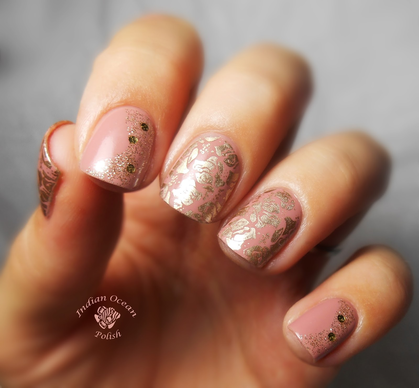 Indian ocean polish pink gold and rose nails thanks for reading prinsesfo Choice Image