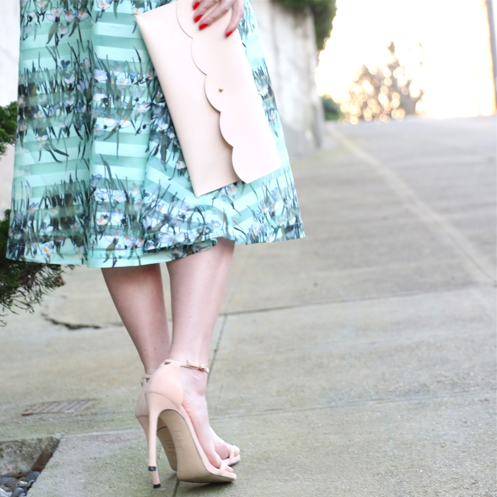 matine scalloped clutch