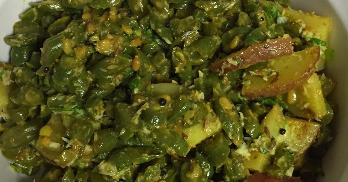 ... kitchen: Pharasbi - Batatyachi Bhaji (Green Beans and Potato Stir Fry