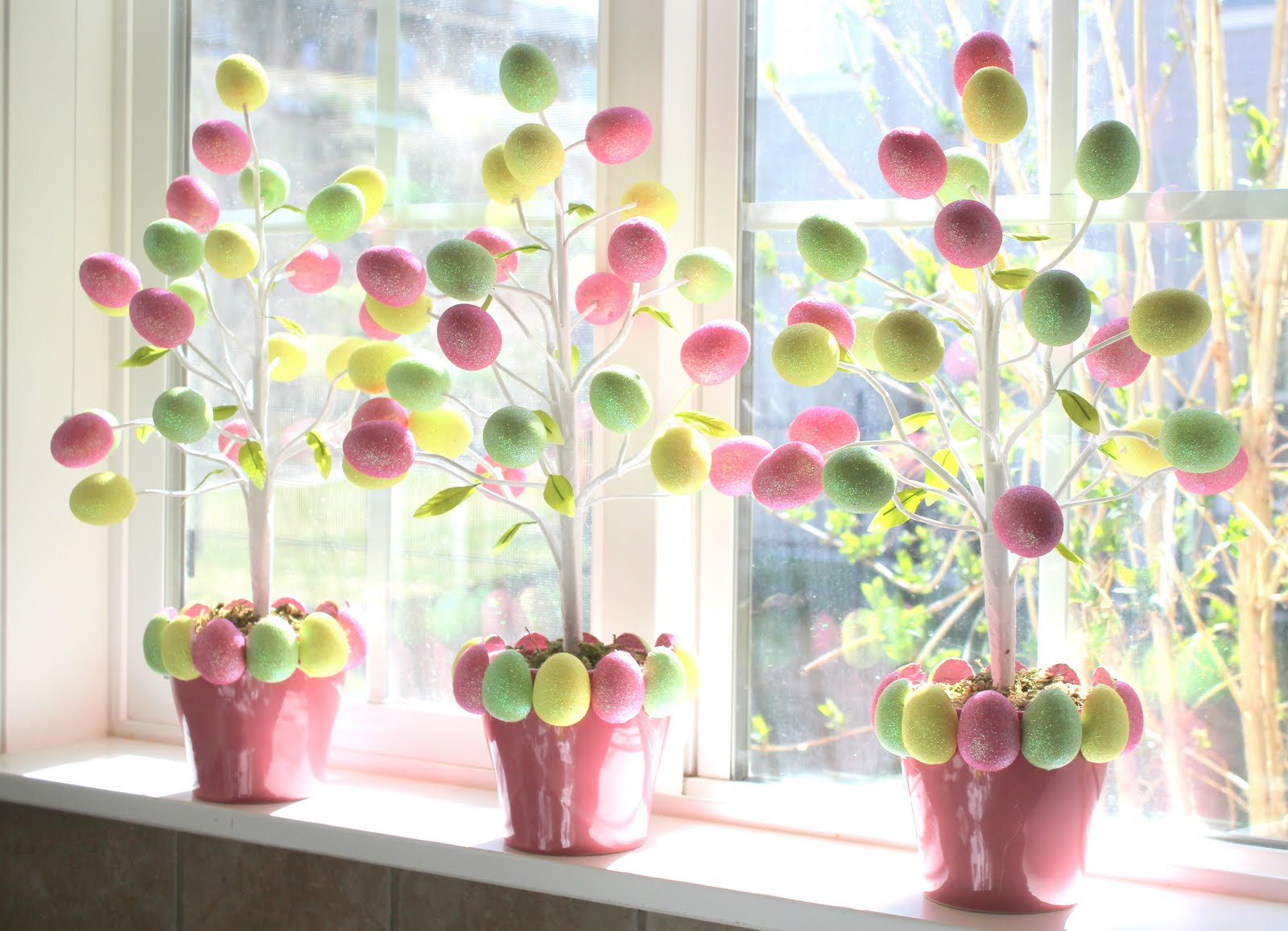 Crafty sisters target dollar egg tree How to make an easter egg tree