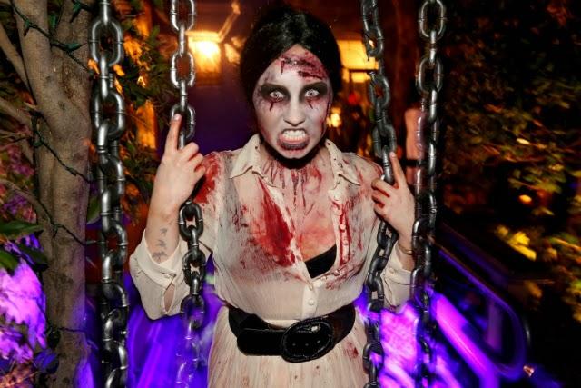 Demi Lovato disfrazada de zombie