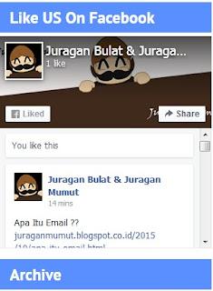 Cara Memasang FB Fans Page Di Blog