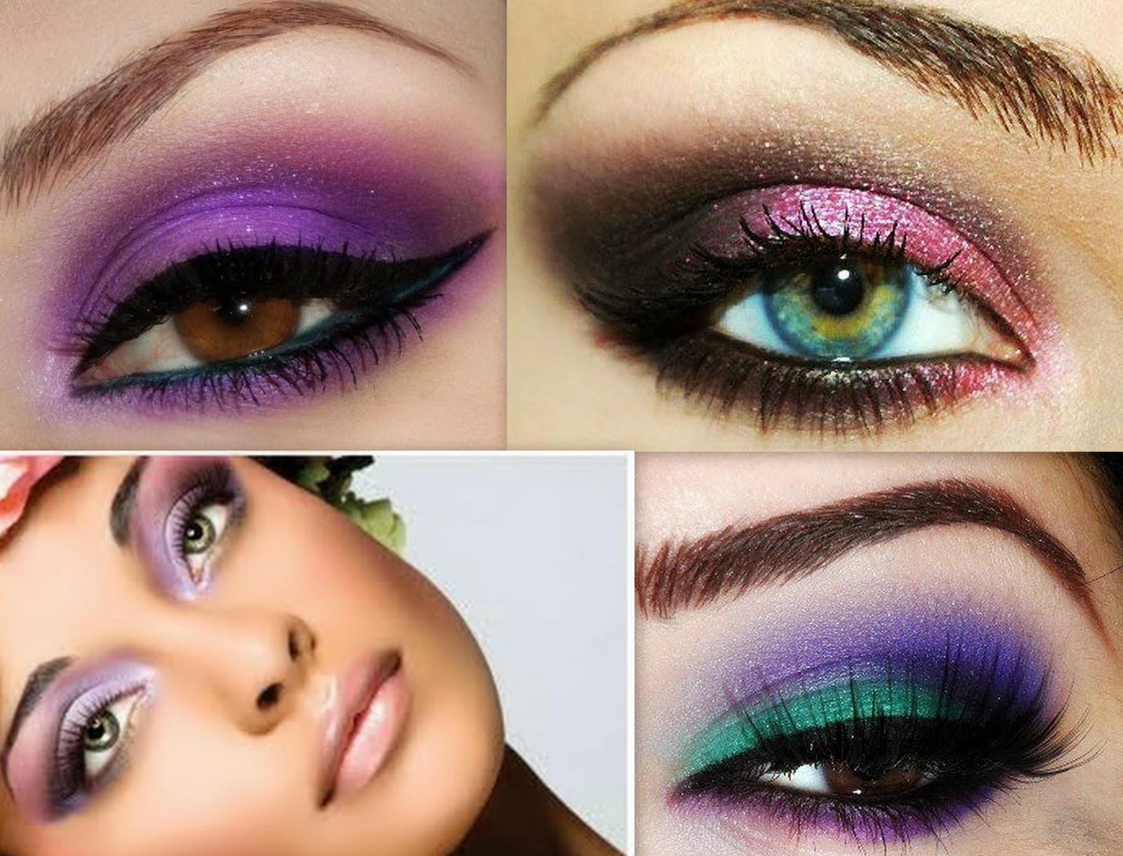 Как сделать пошагово красивый, яркий черный макияж (мейкап) 100