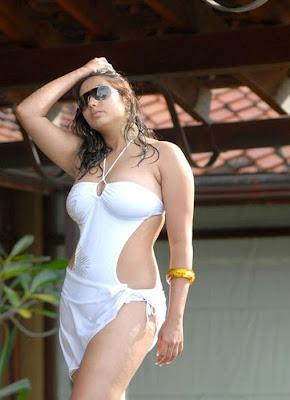 Namitha hot in White Bikini Photo
