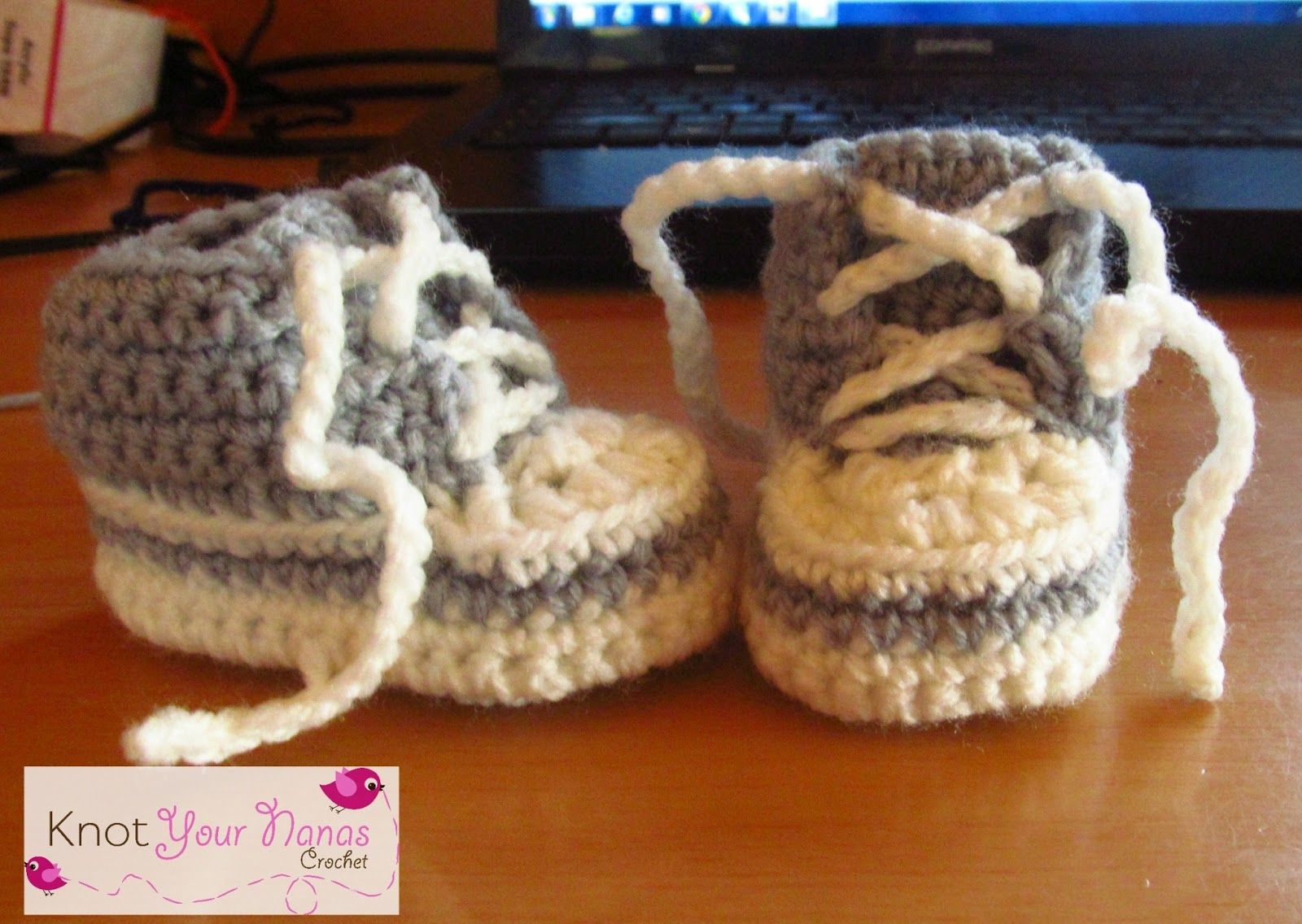 Knot your nanas crochet crochet converse newborn high tops free crochet newborn high tops bankloansurffo Image collections