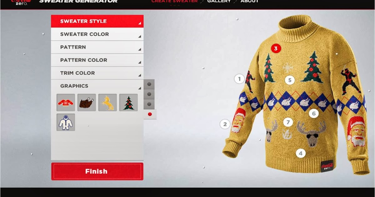Sweater Knitting Pattern Generator : Coke Zero Sweater Generator competition