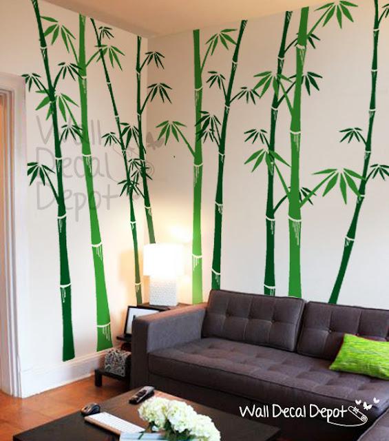 Bamboo worktops photos wall decal