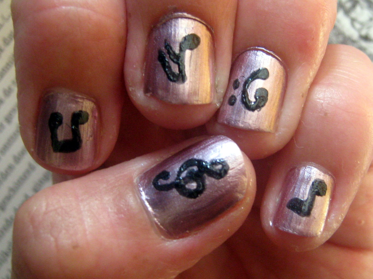Acrylic nail designs music notes music notes nail art designs view images asia my nail art designs prinsesfo Images