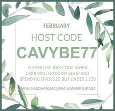 Hostess Code for your February Stampin' Up! Shopping is CAVYBE77