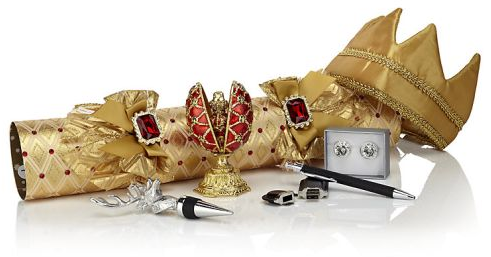 golden luxury romanov christmas crackers with crown and gifts