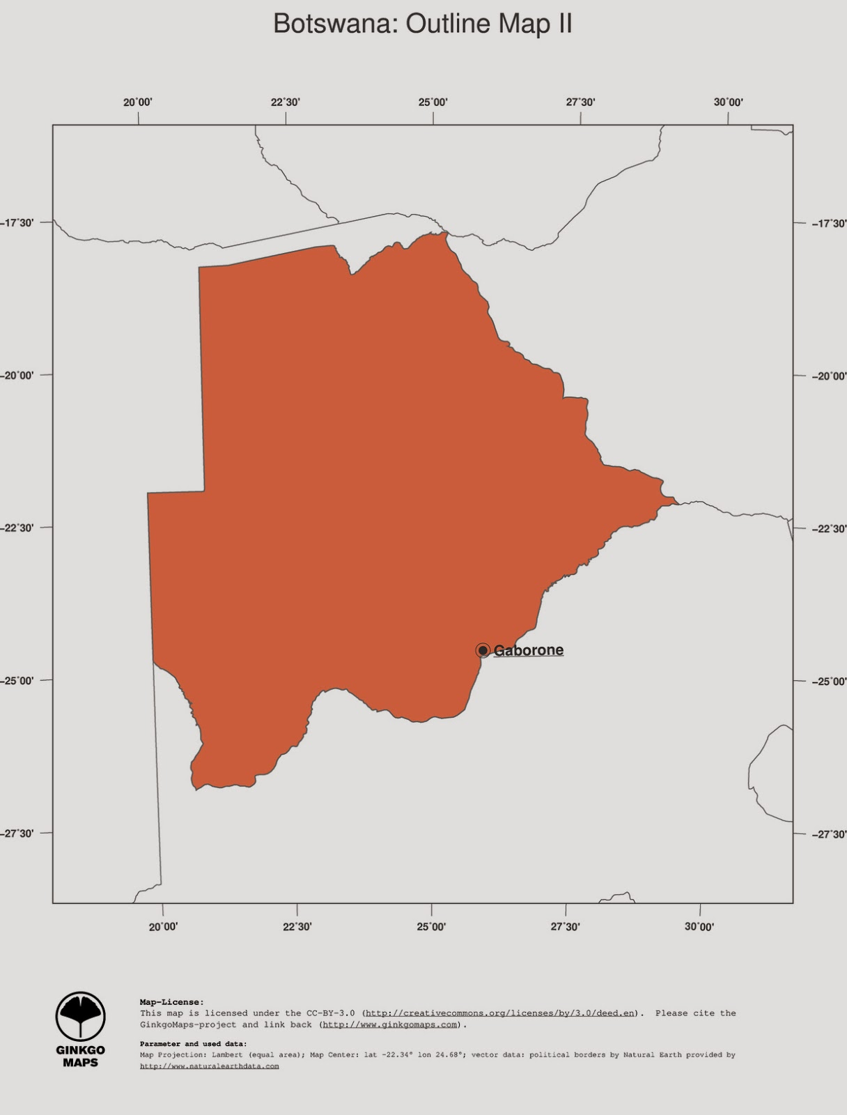 free maps download Botswana map