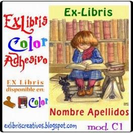 EXlibris Creativos (C1) Lectora con gato