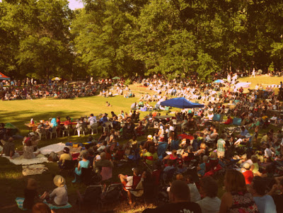 Scene of the crowd at the Beaver Queen Pageant in Durham, North Carolina