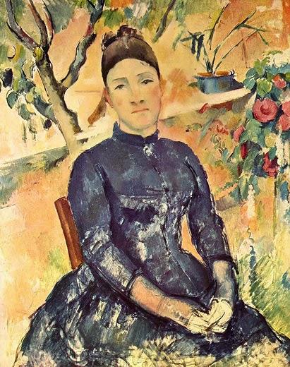 Paul Cézanne: Madame Cézanne im Gewächshaus. Um 1890