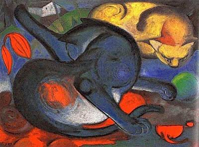 Dos gats (Franz Marc)