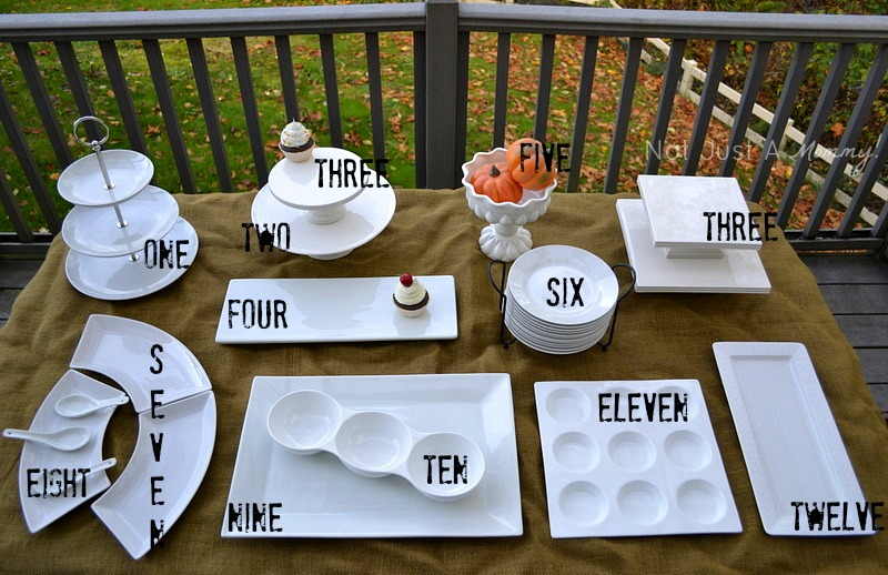 entertaining with white tableware tips