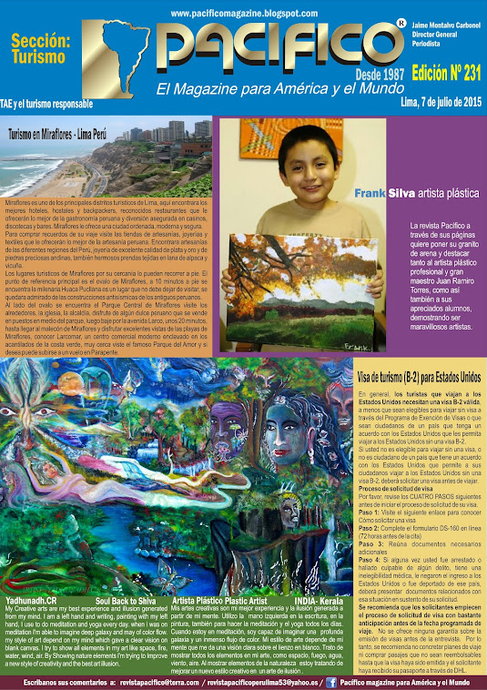 Revista Pacífico Nº 231 Turismo