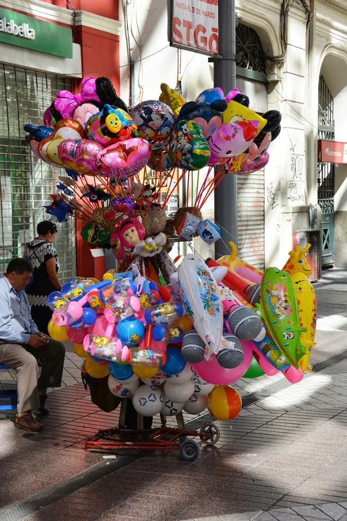 Santiago de Chile baloons