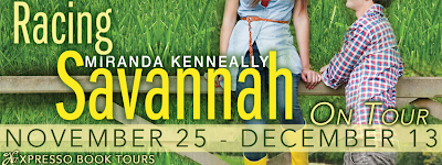 http://xpressobooktours.com/2013/07/31/tour-sign-up-racing-savannah-by-miranda-kenneally/