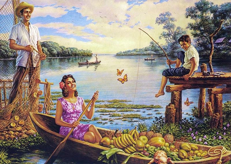 Pintores famoso o no JESUS+HELGUERA%252C+PAISAJES+MEXICANOS+OLEO
