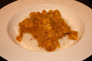 Quorn dansak with rice