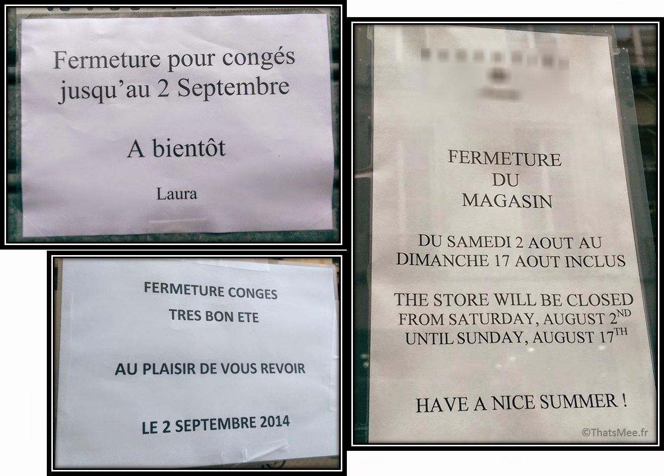 magasin fermé en aout, librairie debelleyme essentiel antwerp fermé en étéParis désert galère