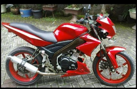Gambar Modifikasi Motor Yamaha Vixion New Terbaru Merah