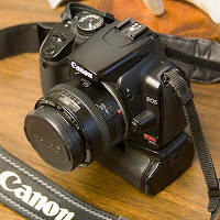 Infrared converted Canon Rebel XTi 400D digital SLR with Canon EF 50mm 1.8 mark I lens. New Braunfels photography