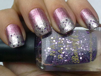 Laura Paige 34 Limited Edition, Saffron Colour 13 and Barry M 239 Lavender Hexograms