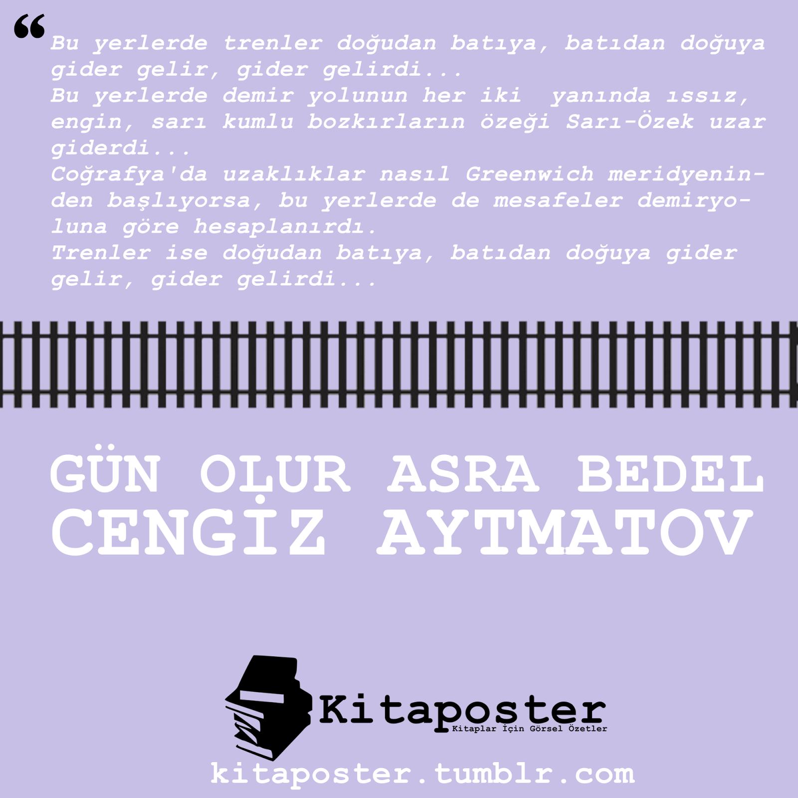 Cengiz Aytmatov - Gün Olur Asra Bedel[Kitaposter]