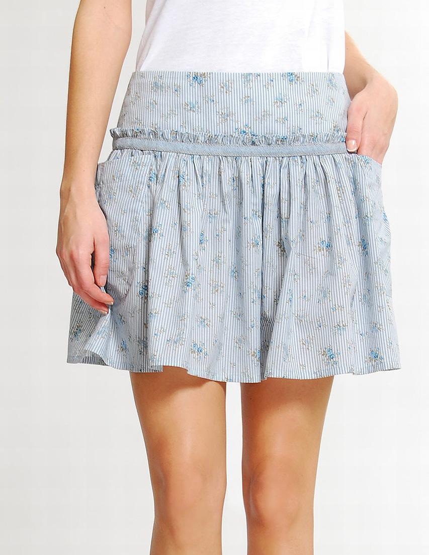 чертеж выкройки юбки колокол с большими защипами