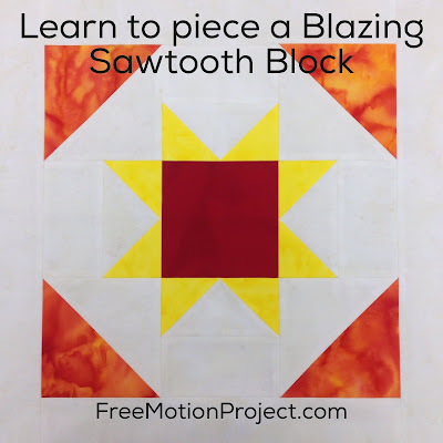 Patchwork Blazing Sawtooth Quilt Block
