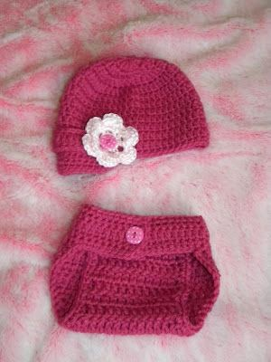 Free Crochet Patterns For Hats And Diaper Covers : Knotty Knotty Crochet: Little brimmed hat and diaper cover ...